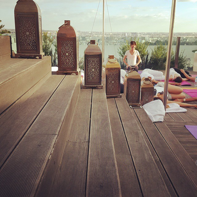 moroccan spirit globalwellnessday meditation yin top of the roof casablanca