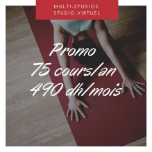 Promo 75 cours – Multi-studios + Studio Virtuel