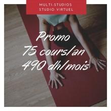Promo 75 cours – Multi-studios + Studio Virtuel