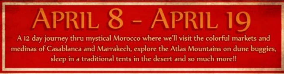 Join Elizabeth Falk for her mystical moroccan tour