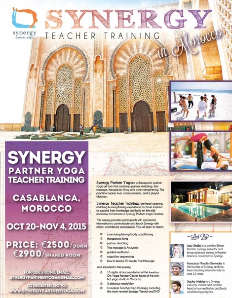 Synergy partner Yoga teacher training