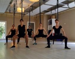 Bungee jumping yoga